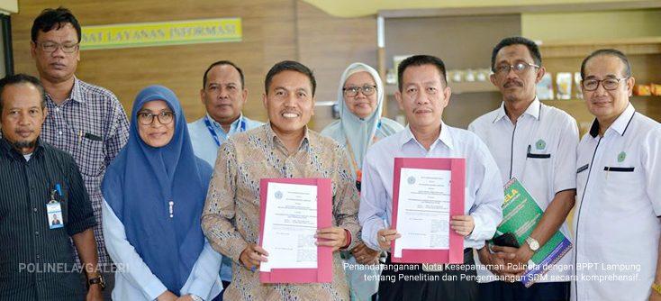 MOU Politeknik Negeri Lampung dan BPPT Lampung