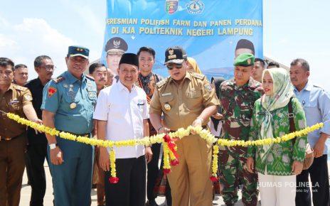 Peresmian Polifish Farm Politeknik Negeri Lampung oleh Gubernur Lampung H. Ir. Arinal Djunaidi