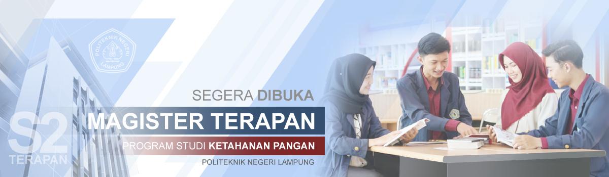 Program Magister Terapan Program Studi Ketahanan Pangan Politeknik Negeri Lampung