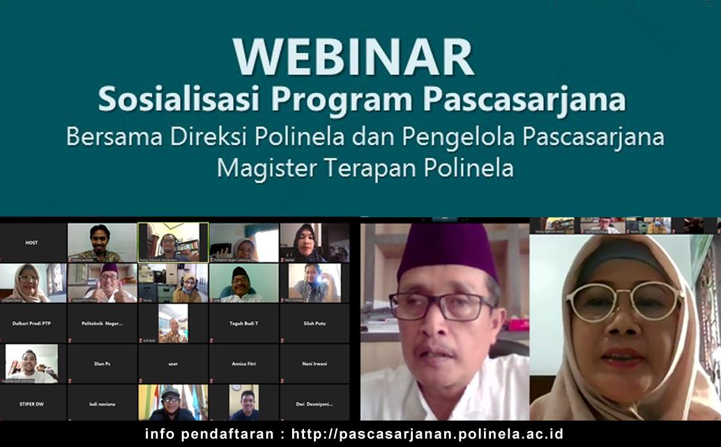 Webinar Sosialisasi Program S2 Terapan Polinela