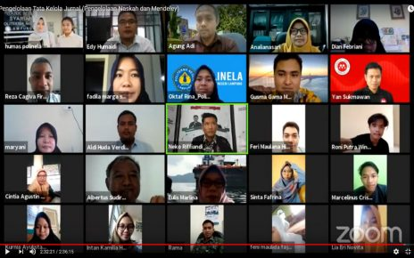 Webinar Pengelola Tata Kelola Jurnal (Pengelolaan Naskah dan Mendeley)