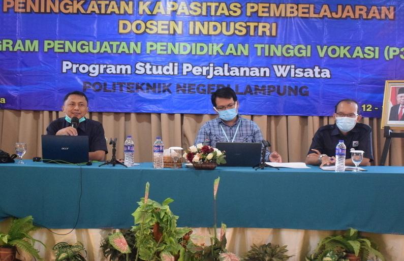 Kegiatan Lokakarya Peningkatan Kapasitas Pembelajaran Dosen Industri Program Penguatan Pendidikan Tinggi Vokasi (P3TV) Program Studi Perjalanan Wisata Polinela