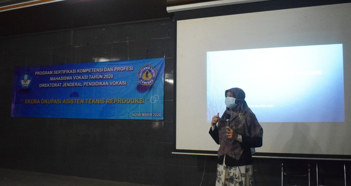 Program Sertifikasi Kompetensi dan Profesi Mahasiswa Vokasi Tahun 2020 Politeknik Negeri Lampung