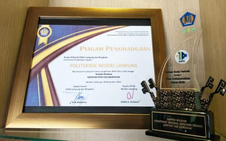 Politeknik Negeri Lampung Mendapat Penghargaan BMN Awards 2020