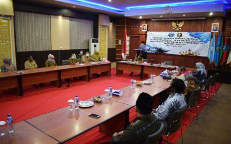 Dinas Perpustakaan dan Kearsipan Provinsi Lampung Mengadakan MoU dan Bimtek Inklusi Sosial Budikdamber dan Budidaya Jamur Tiram Bekerjasama Dengan UPT Perpustakaan Polinela