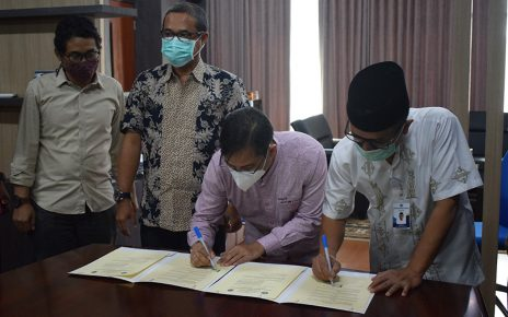 Penandatanganan MoU Polinela dengan Perkumpulan Tenaga Ahli Konsultan Indonesia (PERTAHKINDO) Dewan Pengurus Daerah Lampung