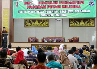 BIMTEK Penyuluh Pendamping Program Petani Milenial Untuk Mahasiswa Penerima Beasiswa Pertanian Provinsi Lampung