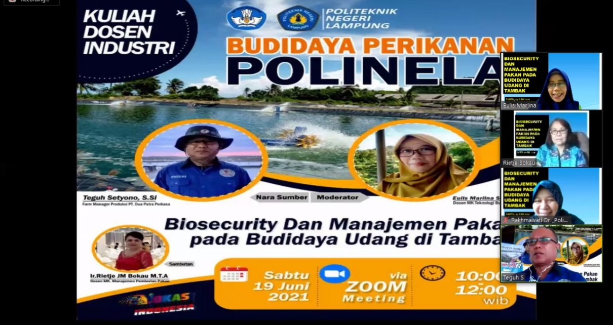 Polinela_Kuliah Dosen Industri Program Studi Budidaya Perikanan