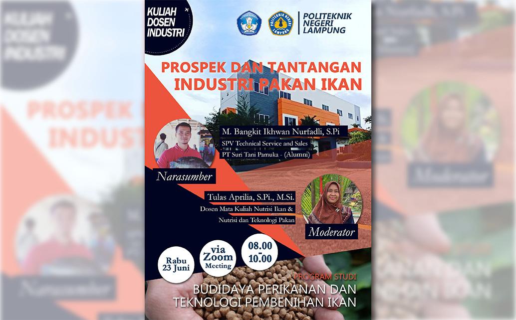 Kuliah Industri Program Studi D3 Budidaya Perikanan dan Program Studi D4 Teknologi Pembenihan Ikan
